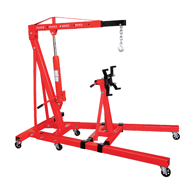 HF98008 2T FOLDING SHOP CRANE WITH ENGINE STAND